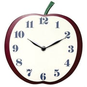 Infinity Instruments Apple Slice Open Faced Novelty Wall Clock