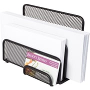 "Staples® Wire Mesh Letter Holder/Sorter, Black, 5 1/5""H x 7""W x 3 9/10""D"