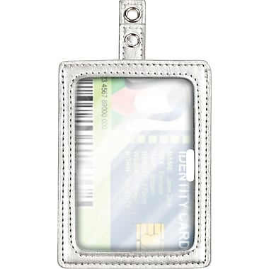 Cosco® MyID™ Silver ID Badge Holder for Key Cards and ID Cards, 4in. x 2.5in.