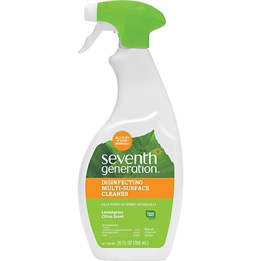 Seventh Generation Multi-Surface Disinfecting Spray, Lemongrass and Thyme, 26 Oz