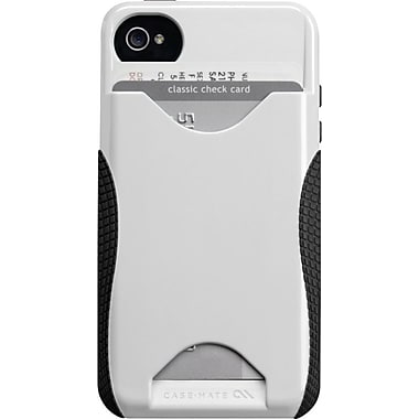 Case-Mate POP! ID Case for iPhone 4, White/Black