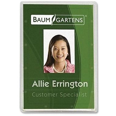 Baumgartens® ID Card Holder, Vertical, Clear, 25/Pack
