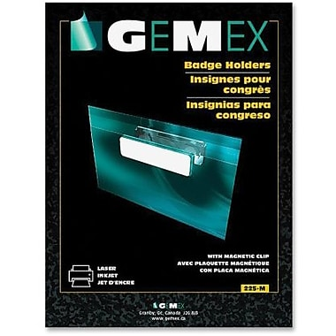 Gemex Badge Holders with Magnetic Clip, 2-1/4