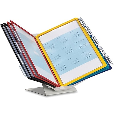 Durable Sherpa Vario Pro Display Reference System, 10 Panels/Pack, Assorted Colours