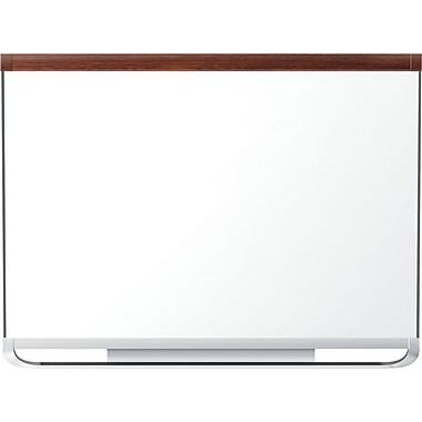 Quartet® Prestige 2® Porcelain Magnetic Dry-Erase Board, Mahogany Frame, 72