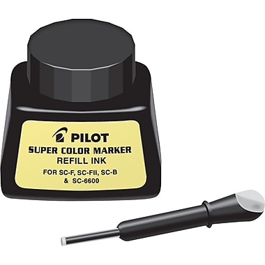 Pilot Permanent Super Color Ink Refill for Super Color Ink Markers, Black, Each