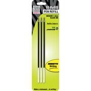 Zebra Medium Ballpoint Refills For Zebra Jimnie Clip Retractable Pens, 3/Pack, Black
