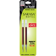 Zebra JF Refill For Jimnie®, Sarasa™, Orbitz, Z-Grip, GR8 Gel Roller Ball Pen, Medium, Red