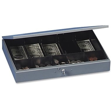 SteelMaster® Cash Box with Tray, Grey
