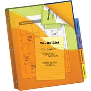 Avery® Big-Tab™ Three Pocket Insertable Plastic Dividers with Corner Lock™, 5-Tab, Multicolor, 8 1/2 x 11, 1/St