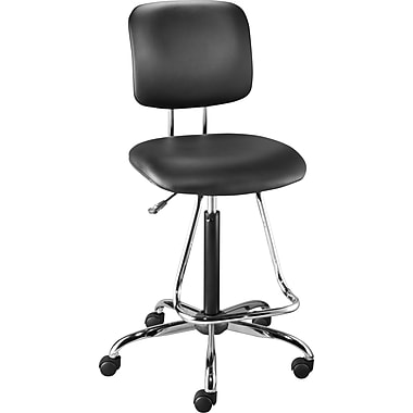 Staples Luxura Drafting Stool with Teardrop Footrest, Black