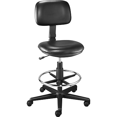 Staples Luxura Drafting Stool, Black