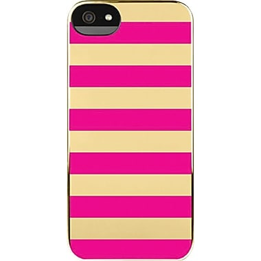 Incase Snap Cases for iPhone 5, Gold Chrome/Pink Stripes