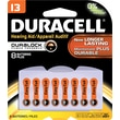 Duracell Button Cell Zinc Air Battery, #13, 8/pk