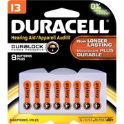 Duracell #13 Button-Cell Zinc Air Battery, 8/Pack (DA13B8ZMR09)
