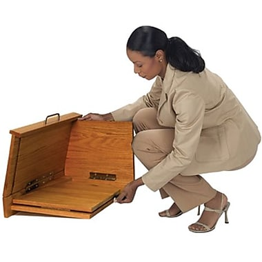 Amplivox Travel-Lite Folding Tabletop Lectern, Light Oak