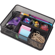 Staples® Black Wire Mesh Deep-Drawer Organizer