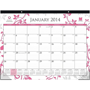 2014 Blue Sky Breast Cancer Awareness Desk Pad 22in.x17in.