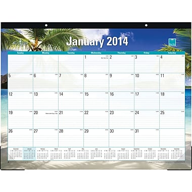 2014 Blue Sky Endless Summer Desk Pad 22in.x17in.