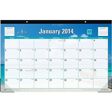 2014 Blue Sky Endless Summer Desk Pad 17in.x11in.