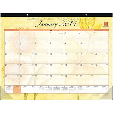 2014 Blue Sky Emily Desk Pad 22in.x17in.