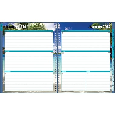 2014 Blue Sky Endless Summer Weekly/Monthly Planner 8 1/2in. x 11in.