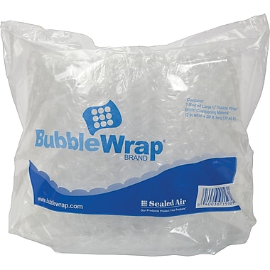 Staples® 1/2in. Bubble Roll, 12in.x30' (27175)