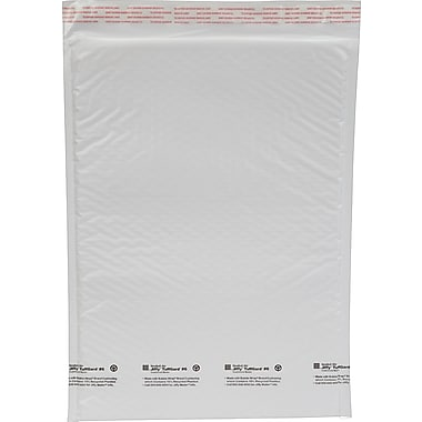 Staples #6 Bubble Mailer, White Poly, 12-1/2in.x19in., 25/Pack (27277)