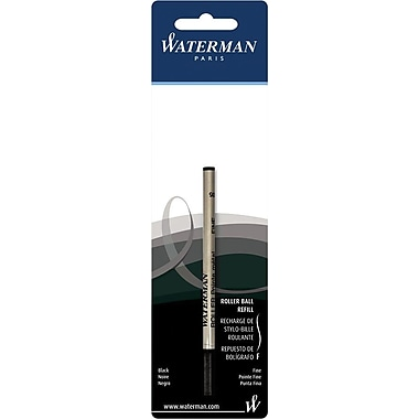 Waterman Fine Rollerball Refill For Waterman Rollerball Pens, Each, Black