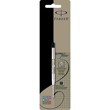 Parker Fine Ballpoint Refill, For Parker Ballpoint Pens, Each, Black