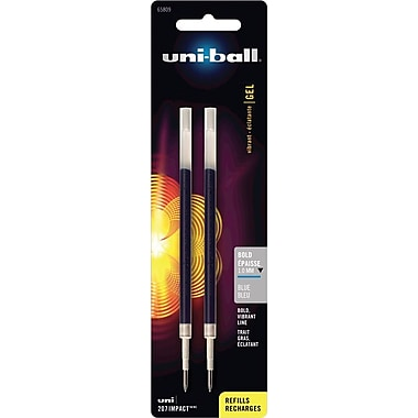 uni-ball Bold Gel Refills For uni-ball® 207™ Impact™ Gel Pens, 2/Pack, Blue