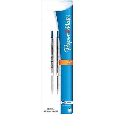 Paper Mate® Refills for Lubriglide® Ballpoint Pens, Medium Point, Blue, 2/pk (4912431PP)