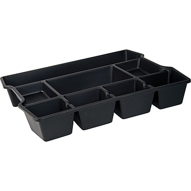 Staples Black Plastic Deep Drawer Organizer