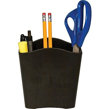 Staples Black Plastic Jumbo Pencil Cup
