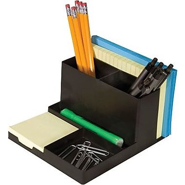 Staples Black Plastic Desk Organizer