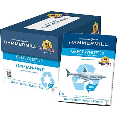 HammerMill Great White Copy Paper, 8 1/2