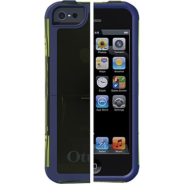 Otterbox Reflex for iPhone 5, Glow Green Translucent / Admiral Blue