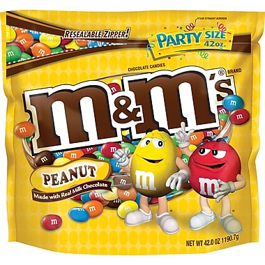 M&M's® Peanut Candy, 42 oz. Bag