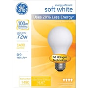 72 Watt GE® Energy-Efficient A19 Lightbulb, Soft White