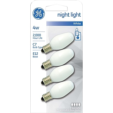 4 Watt Ge Nightlight C7 Lightbulb, Soft White