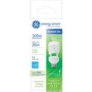 26 Watt GE Energy Smart® Spiral® T3 CFL, Soft White