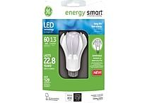 GE Energy Smart® A19 LED Lightbulb, White, Dimmable