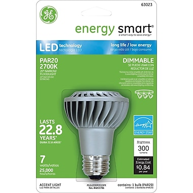 GE Energy Smart PAR20 LED Indoor Floodlight, Soft White, Dimmable