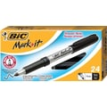 BIC Mark-It™ Fine Point Permanent Markers, Black, 24/Pack