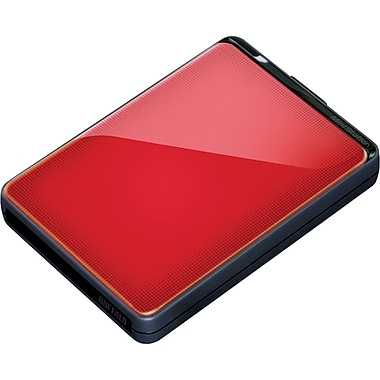 Buffalo MiniStation Plus 1TB Portable USB 3.0 External Hard Drive (Red)