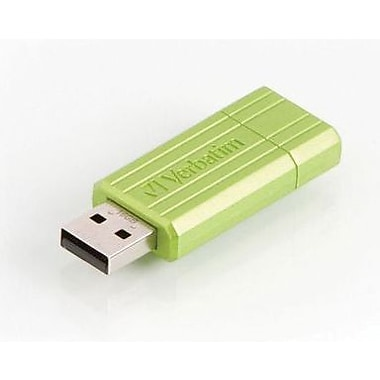 Verbatim 16GB PinStripe USB Flash Drive, Green
