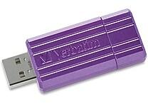 Verbatim 16GB PinStripe USB Flash Drive, Purple