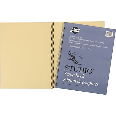 Hilroy Scrapbook with Oversized Coil Binding, 14