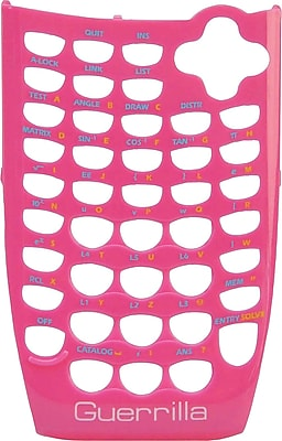 Guerrilla Face Plate for TI 84SE Pink Graphing Calculator