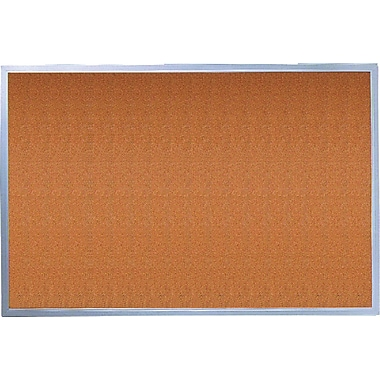 Quartet® Cork Bulletin Board, Aluminum Frame, 17in. x 23in.